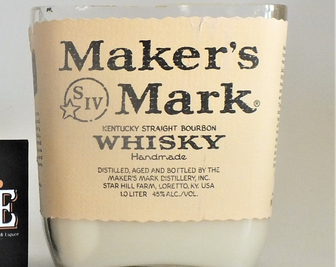 Markers Mark Kentucky Straight Bourbon Whiskey Empty Cut Liquor Bottle Candle - Scented Soy Wax -  Whisky Gift FREE SHIPPING!