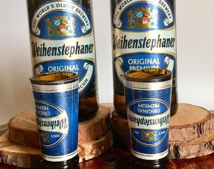 Weihenstephaner Beer Bottles Glasses and Shot Glasses - Cerveza,- Guy Beer Mug Unique Gift tumblers- German bier