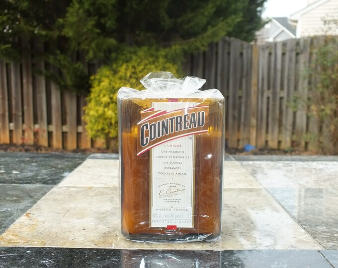 Cointreau Orange Liqueur Empty Cut Liquor Bottle Candle - Scented Soy Wax -  Gift - Man Cave France - French FREE SHIPPING!