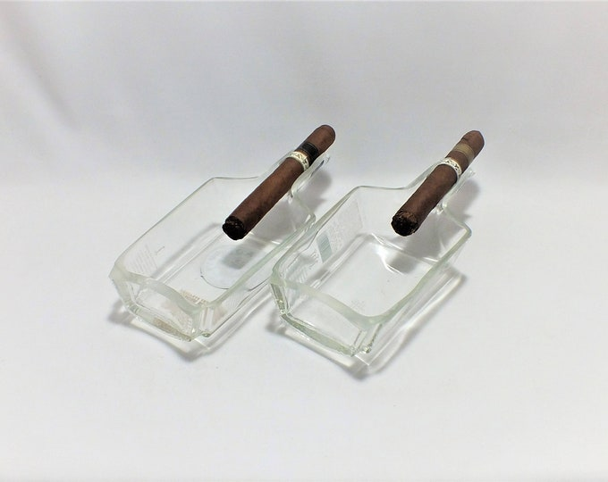 Two (2) Blade and Bow Bourbon Whiskey Cigar Ashtray - Nuts Bowl - Jewelry box - Catch it all - Ash tray - front and back - Whisky