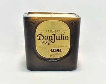 Don Julio Añejo Bottle Candle - Tequila Silver - Scented Soy Wax - Empty Cut Liquor - Gift - Man Cave - Mexico - Agave FREE SHIPPING!