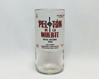 Peloton De La Muerte Rocks Glass (1) - Liqueur - Liquor Bottle - Rocks Glasses - Drinking Glasses - Upcycled Glasses - Mezcal Artesanal