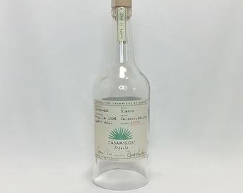 Casamigos Lamp Shade - Hanging Light - Tequila 100% Agave - Lamp - Cut Bottle - Cut Liquor Bottles - Chandelier