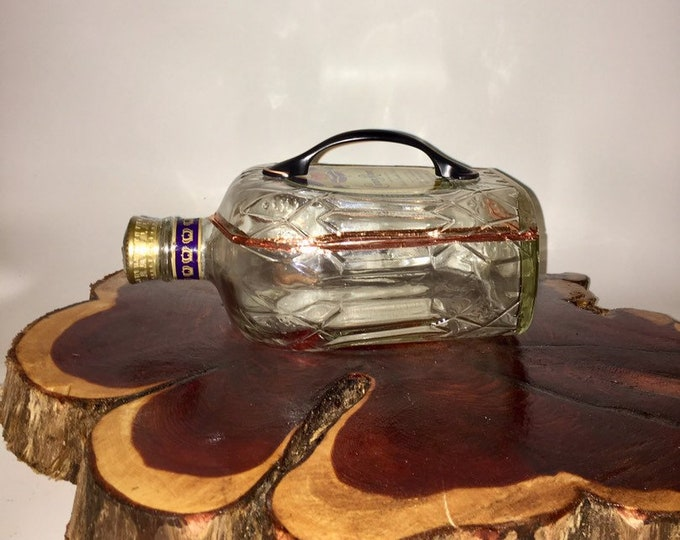 Crown Royal Canadian Whisky liquor bottle box, Snack Bowl, Party or Candy Dish - Nuts Bowl - Booze - Licor - Jewelry Box - Cigars - Whiskey
