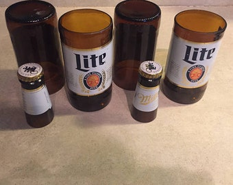 Miller Lite Beer Bottles Glasses and Shot Glasses - Cerveza,- Guy Beer Mug Unique Gift tumblers - Miller light