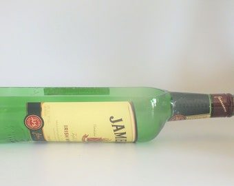 Jameson Irish Whisky Liquor Bottle cut lengthwise / crafts / Planter / Indoor Plants / Succulent Glass Terrarium