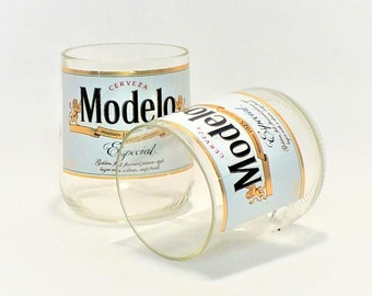 Modelo Bottles Glasses - Modelo Especial - Cerveza - Guy Beer Mug Unique Gift tumblers - Mexican Beer - Mexico