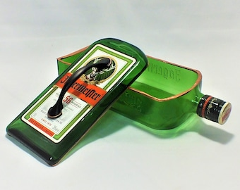 Jagermeister liquor bottle box, Snack Bowl, Party or Candy Dish - Nuts Bowl - Booze - Licor - Jewelry Box - Cigars - Empty Ships Free!