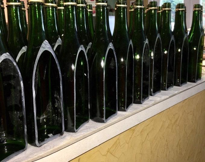 Lot of 12 Wine Bottle cut lengthwise / crafts / serving dish / Wine Planter / Indoor Plants / Succulent Glass Terrarium / Indoor Herb Garden