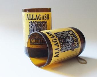 Allagash Bottles Glasses - White Beer - Cerveza - Guy Beer Mug Unique Gift tumblers Craft beers
