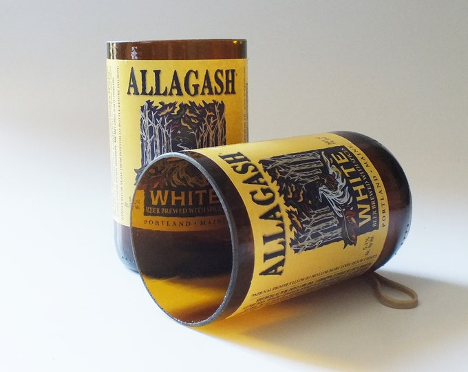 Allagash Bottles Glasses - White Beer - Cerveza - Guy Beer Mug Unique Gift tumblers Craft beers