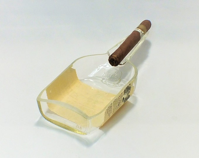 Maker's Mark Bourbon Bottle Cigar Ashtray - Nuts Bowl - Jewelry box - Catch it all - Ash tray