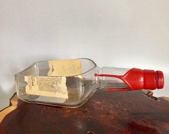 Makers Mark Bourbon Whisky Liquor Bottle cut lengthwise / crafts / Planter / Indoor Plants / Succulent Glass Terrarium