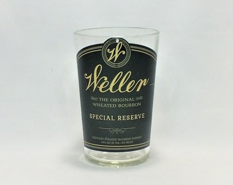 Weller Special Reserve Rocks Glass (1) - The Original Wheated Whiskey Bourbon - Made from Bottle - Whisky bottom glass