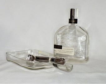 Cigar Ashtray - Nuts Bowl - Jewelry box - Catch it all - From Empty Woodford Reserve or Double Oaked Bourbon Whiskey Liquor Bottle Ash Tray