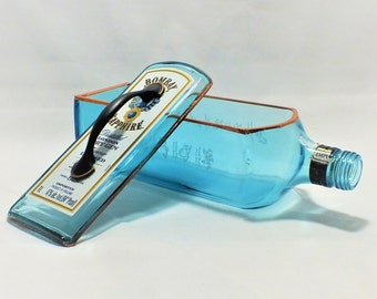 Bombay Sapphire Gin liquor bottle box, Snack Bowl, Party or Candy Dish - Nuts Bowl - Booze - Licor - Jewelry Box - Cigars - Empty