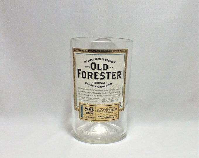 Old Forester 86 Whiskey Bourbon Rocks Glass (1) - Made from 750ml Bottle - Whisky bottom glass