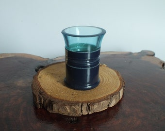 Bombay Sapphire Shot Glasses from Empty Cut Gin Liquor Bottle -  Top Glass - Whiskey gifts - Mother or Father day's - London Gin