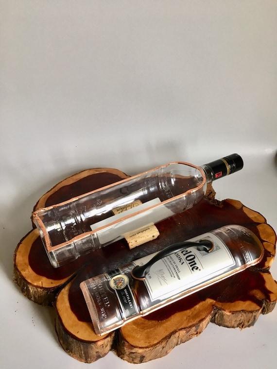 Hendrix London Gin Liquor Bottle cut lengthwise  crafts  serving dish  Planter  Indoor Plants  Succulent Glass Terrarium