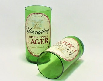Yuengling Beer Bottles Glasses - Cerveza - Guy Beer Mug Unique Gift tumblers - Traditional Lager - PA - Pennsylvania