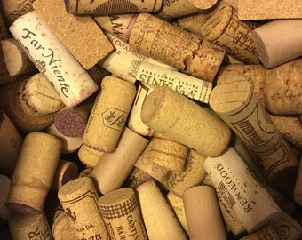 100 Pre-Cut natural Wine Cork Halves white & red wine, no synthetic or champagne.