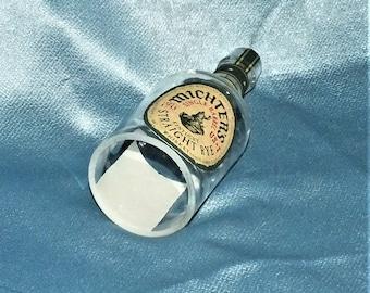 Michter's Rye Cut Bottle Hanging Light - lamp - Cut Liquor Bottles - Chandelier Michters