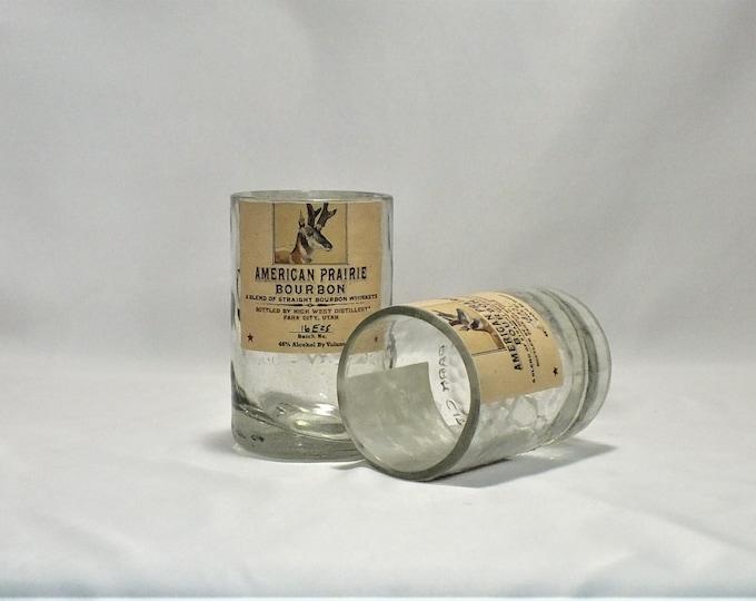 High West Destillery Rocks Glass (1) - Made from Bottle - Whisky bottom glass - Bourye - American Prairie - Rendezvous Rye