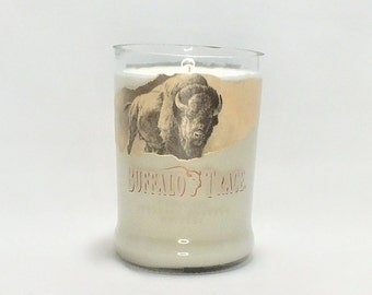 Buffalo Trace Kentucky Bottle Candle - Straight Bourbon Whiskey - Scented Soy Wax - Empty Cut Liquor Bottle - Whiskey Gift FREE SHIPPING!