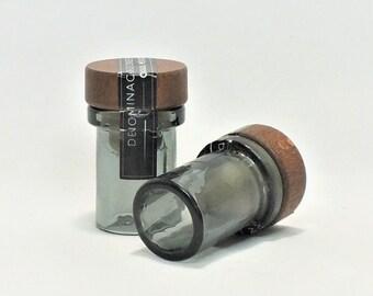 Montelobos Shot Glasses (1) - Mezcal Artesanal - Tequila - 100% Agave - Empty Cut Liquor Bottle - Top Glass - Gift - Collectible