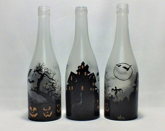 Halloween Bottle Shade - 16 Color Changing Light RGB LED Remote Controlled - Bar Light - Glass Bottle - Free Shipping
