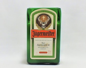 Jagermeister Liqueur Bottle Candle - Empty Cut Liquor Bottle - Scented Soy Wax - Gift - Man Cave - Jager bomb