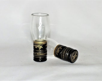 Weller 12 Year Old Shot Glasses (1)- From Empty Cut Liquor Bottle Top Glass - Gift - Collectible -  The Original Wheated Whiskey Bourbon