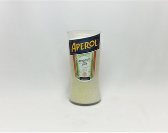 Aperol Bottle Scented Candle - Cut Bottle - Empty - Soy Wax