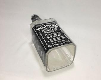 Jack Daniels Tennessee Whiskey Cut Bottle Hanging Light - lamp - Cut Liquor Bottles - Angel's - Chandelier