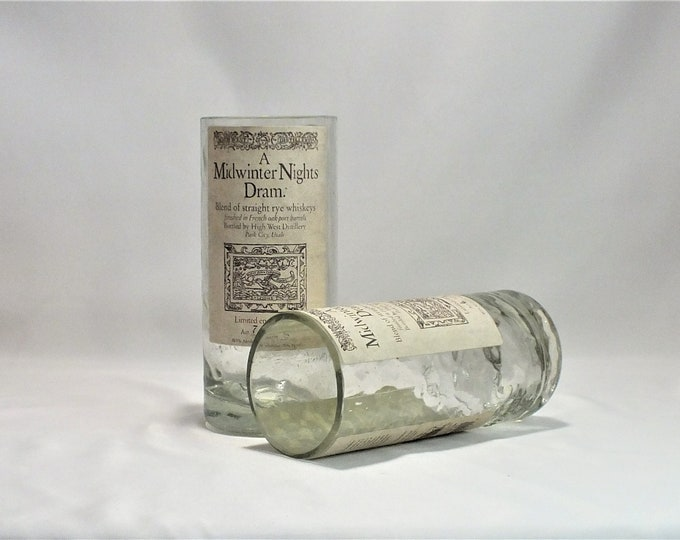 High West Destillery Rocks Glass (1) - Made from Bottle - Whisky bottom glass - Midwinter Nights Dram