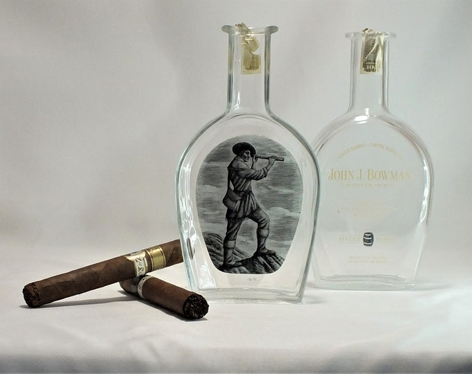John J. Bowman Cigar Ashtray - Nuts Bowl - Jewelry box - Catch it all - Bourbon Whiskey Port Barrel Finished - Ash Tray - Liquor