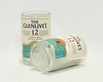 The Glenlivet 12 Mini Bottle Shot Glass - Single Malt Scotch Whisky - Tequila - Fathers Mothers gift
