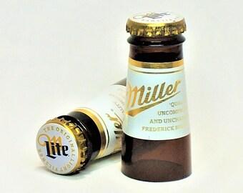 Miller Lite Shot Glasses - Beer - Cerveza,- Guy Beer Mug Unique Gift tumblers - Miller light