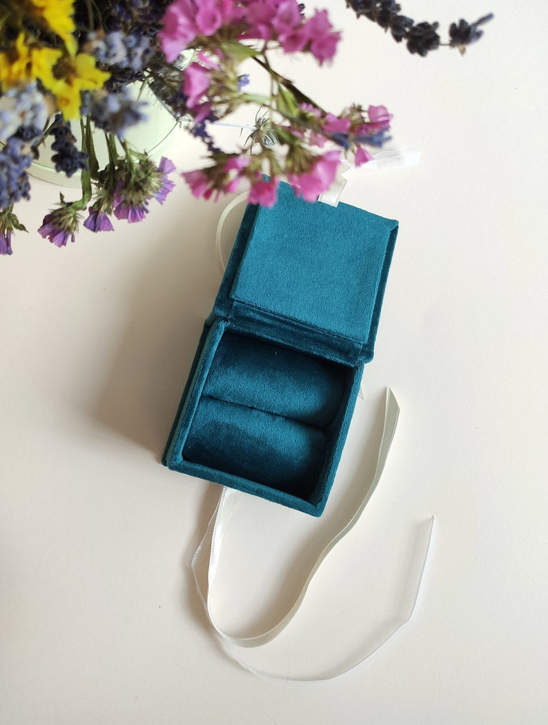proposal ring box ring bearer box with personalised cover Velvet ring box