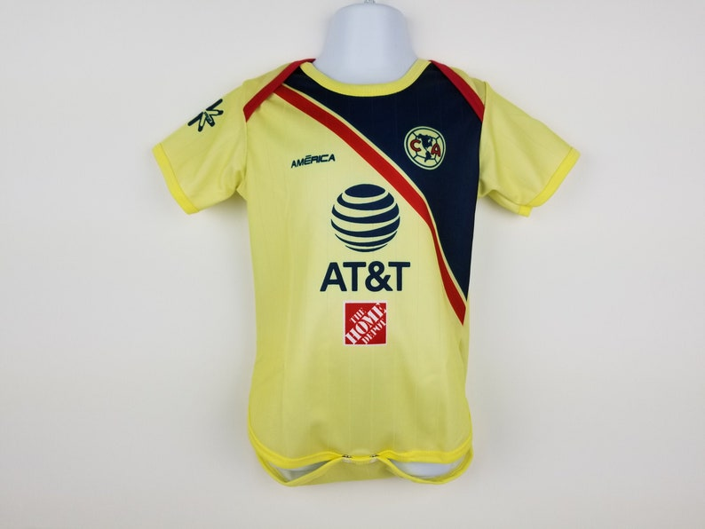 huge discount c8c5d a3f2c Club America Baby Jersey, Soccer Jersey, Baby Bodysuit, Yellow Jersey, Home  2018-2019 Club America Jersey