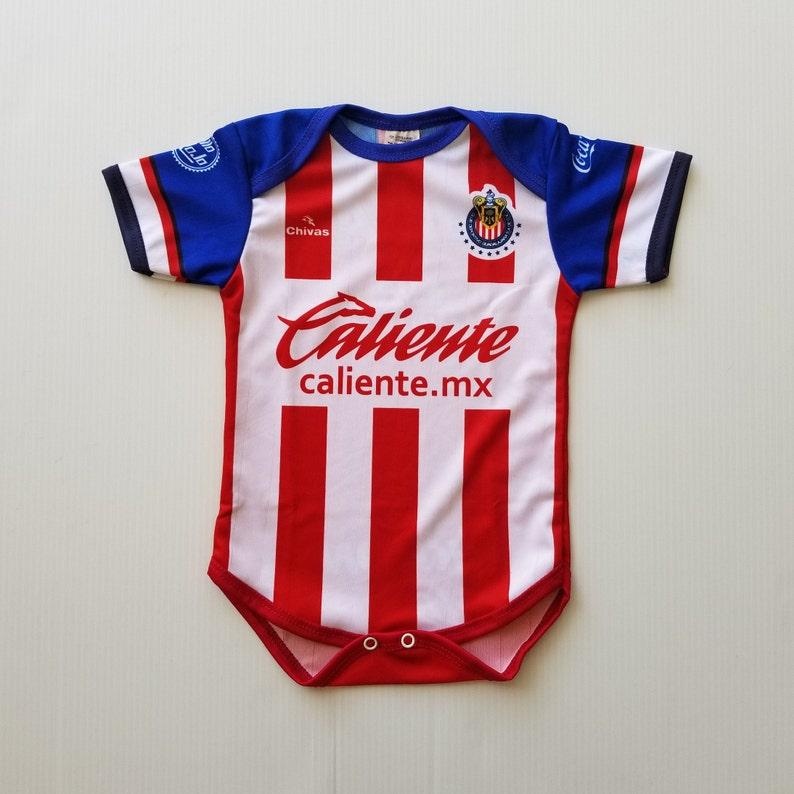 best sneakers bf753 5a617 Chivas Baby Jersey, Soccer Jersey, Baby Bodysuit, Chivas de Guadalajara  2019-2020 Home Jersey