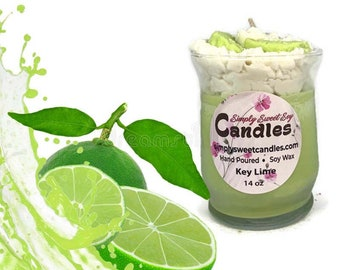 Key Lime Soy Candle, Handmade, Fruit Candle, Kitchen Candle, Food Candle, Housewarming Gift, Citrus Candle