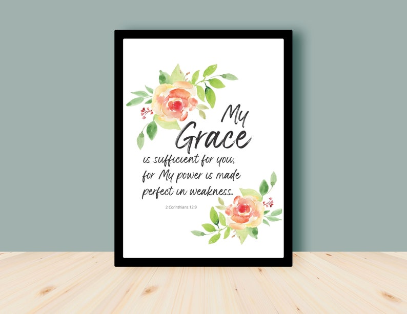 For my grace is sufficient for you  2 Corinthians 12  Bible image 0