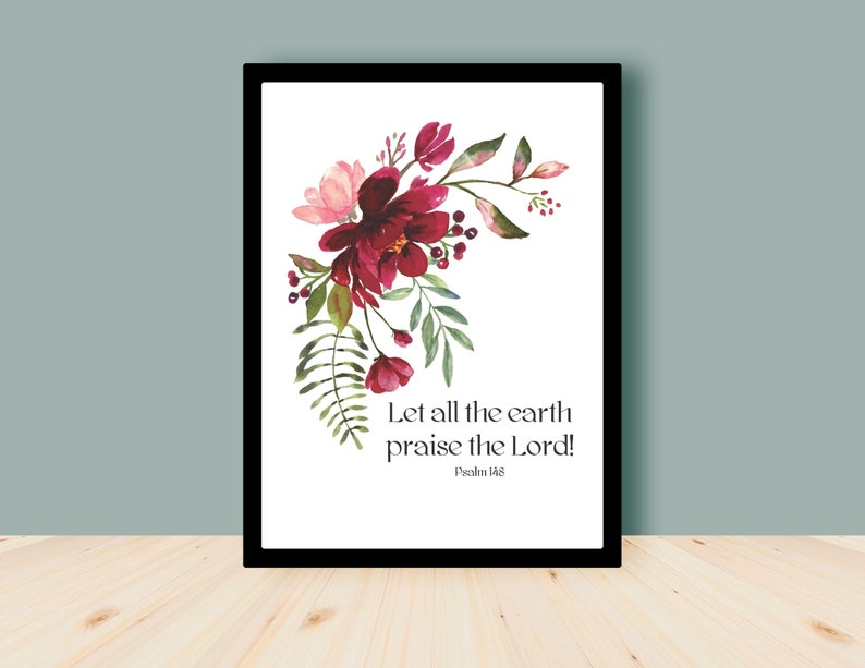 Let all the earth praise the Lord  Psalm 148  Bible Verse image 0