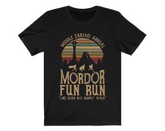 67b056d67 Middle Earth's Annual Mordor Fun Run One Does Not Simply Walk Premium  Unisex T-shirt Runners