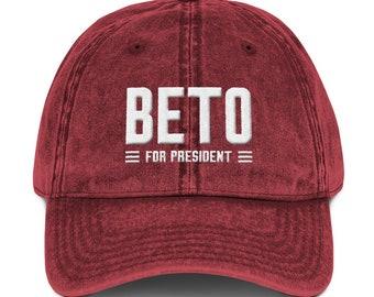 e18e7c25847 Beto O Rourke For President 2020 Election America Vintage Cotton Twill Cap