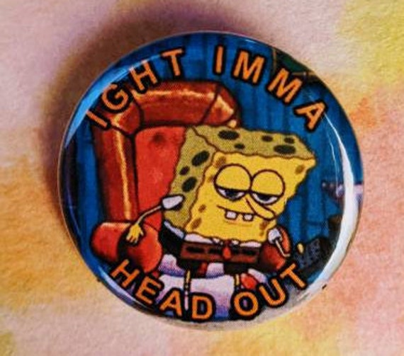 Spongebob One Eternity Later Pin back Button Size 1.25