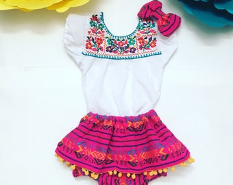 363e1f5901a5 Baby Girls Mexican Outfit