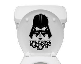 Star Wars Inspired Darth Vader The Force Is Strong With This One Toilet Decal
