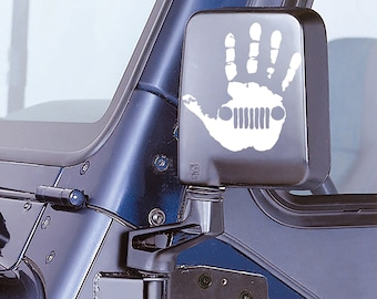 Jeep Wave With Grill Decal - Jeep Hand Decal Jeep Sticker - Jeep Sticker - Jeep Wrangler Wave Truck Automotive Decals